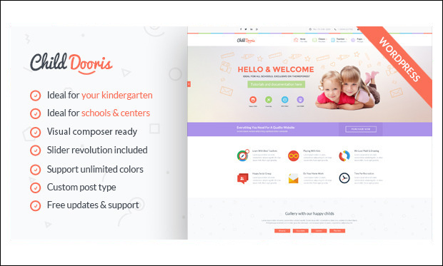 Child Dooris - WordPress Themes for Primary School Websites