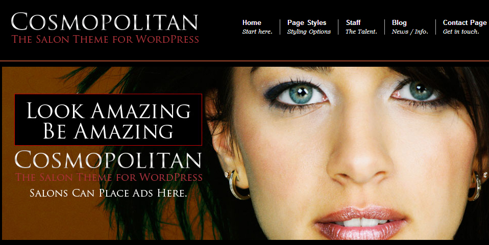 Cosmopolitan Salon - Nail Salon WordPress Responsive Theme