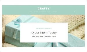 Crafty - Handmade - Jewelry WordPress Responsive Themes