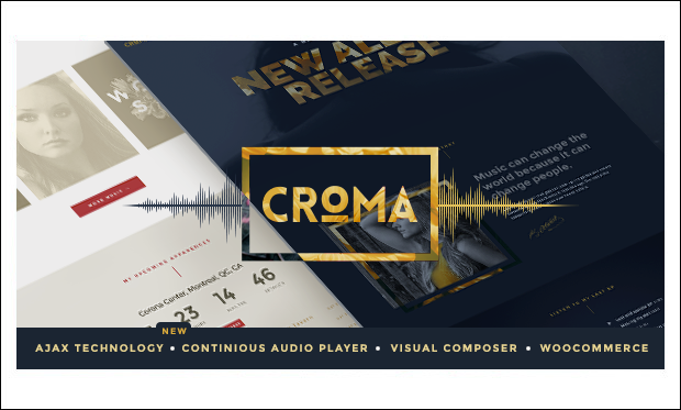 Croma - Music Community WordPress Themes