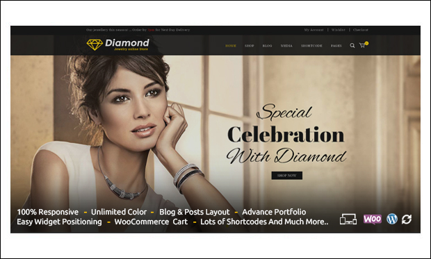 Diamond - Jewelry WordPress Responsive Themes