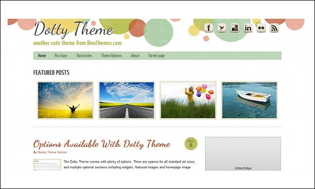Dotty - Mommy Blogger WordPress Responsive Themes