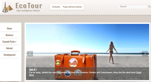 EcoTour - Tourism WordPress Responsive Theme