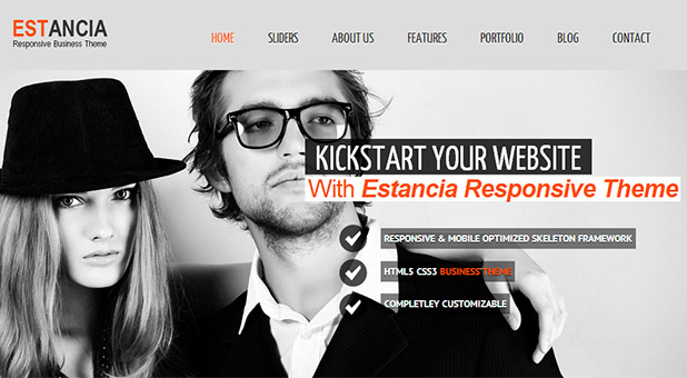 Estantia - Barbershop WordPress Responsive Template