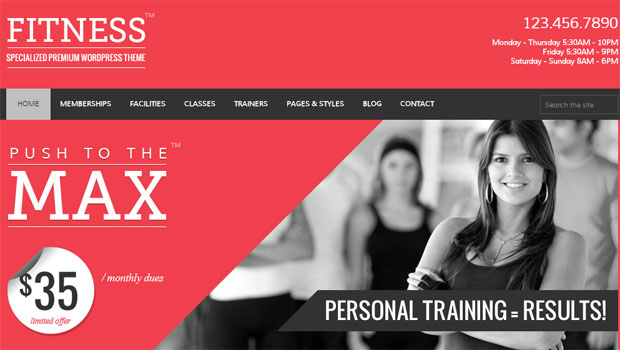 Fitness - Yoga WordPress Theme