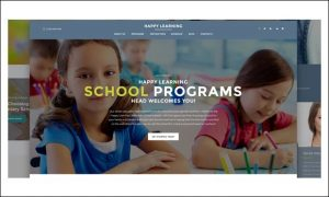 Happy Learning - WordPress Themes for Primary School Websites