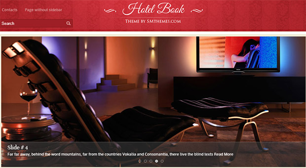 Hotel Book - Tourism WordPress Responsive Theme