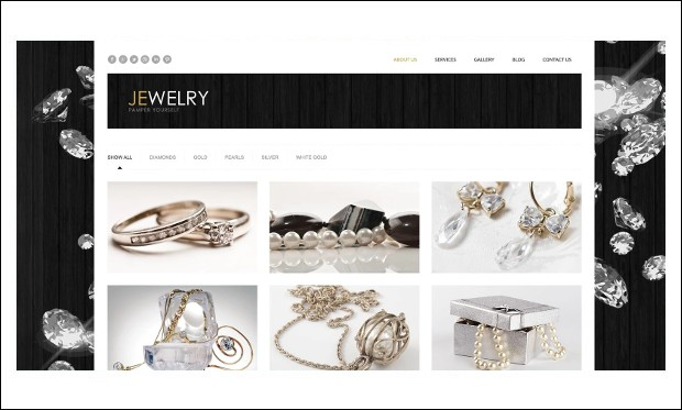 Jewelry - Jewelry WordPress Responsive Themes