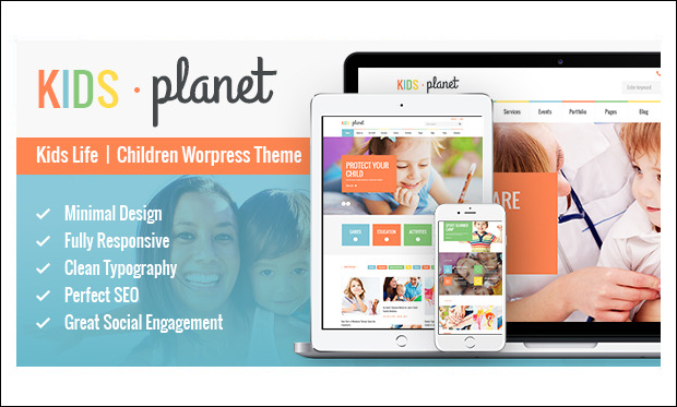 Kidsplanet - WordPress Themes for Primary School Websites