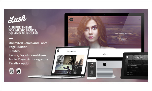 Lush - Music Community WordPress Themes
