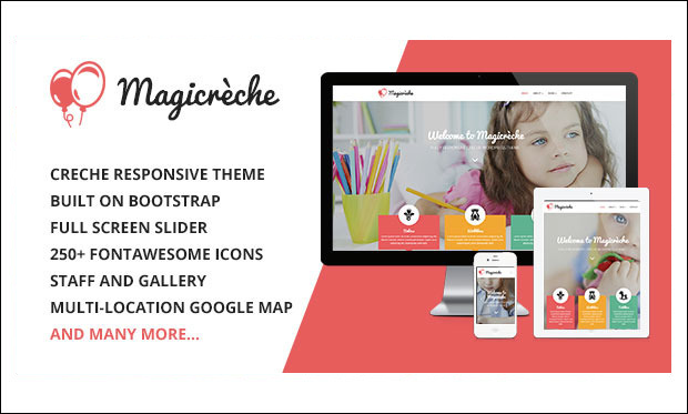 Magicreche - WordPress Themes for Primary School Websites