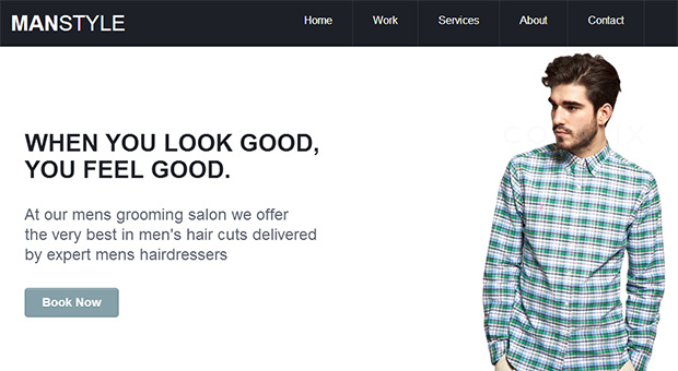 Mens Hair Salon - Barbershop WordPress Responsive Template