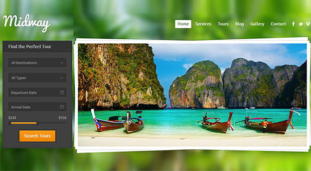 Midway - Beachy WordPress Responsive Theme