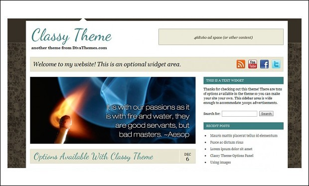 classy theme - Mommy Blogger WordPress Responsive Themes
