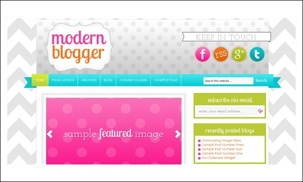 Modern Blogger - Mommy Blogger WordPress Responsive Themes