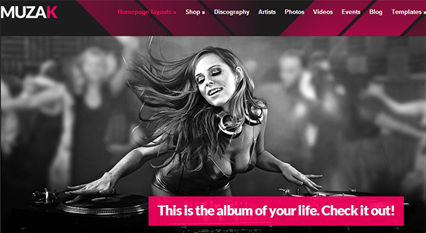 Muzak - Mobile DJ Responsive WordPress Theme