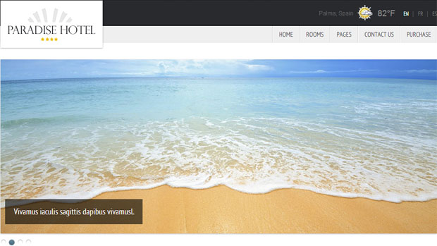 Paradise Hotel - Tourism WordPress Responsive Theme