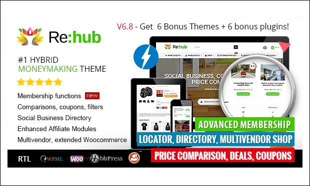 ReHub - WordPress Themes for SEO Affiliates