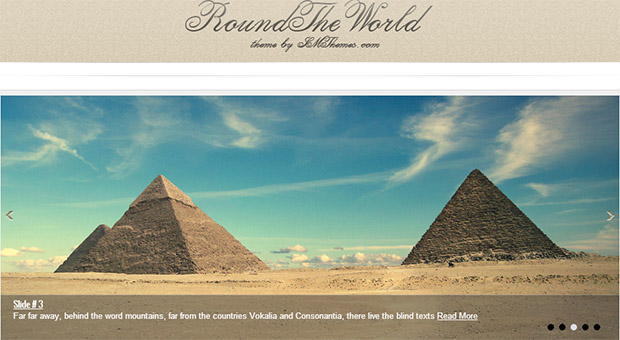 Round the world - Tourism WordPress Responsive Theme