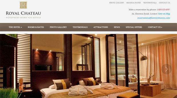 Royal Chateau - Tourism WordPress Responsive Theme