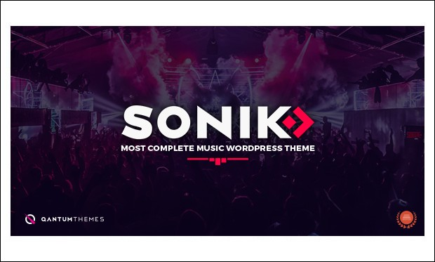SONIK - Music Community WordPress Themes