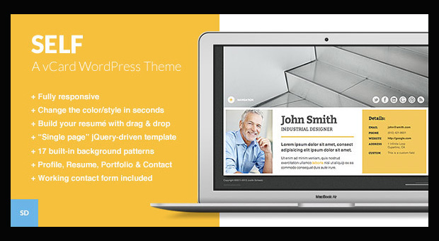 Self - Resume Style WordPress Responsive Theme