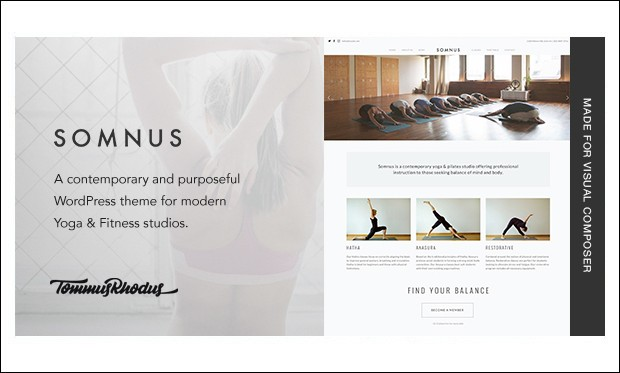 Somnus - Yoga WordPress Themes