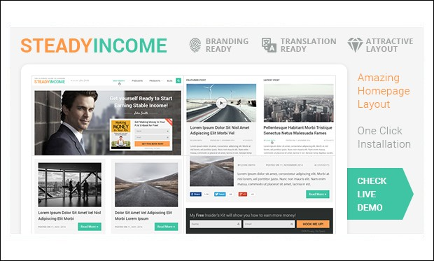 SteadyIncome - WordPress Themes for SEO Affiliates