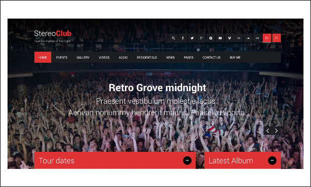 StereoClub - Music Community WordPress Themes