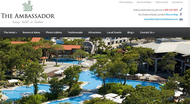 The Ambassador - Tourism WordPress Responsive Theme
