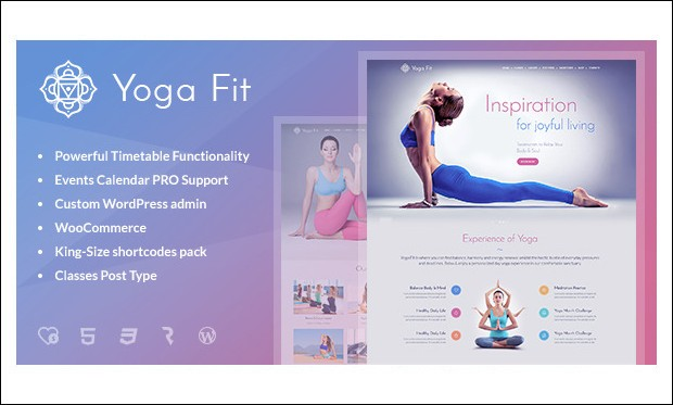 Yoga Fit - Yoga WordPress Themes