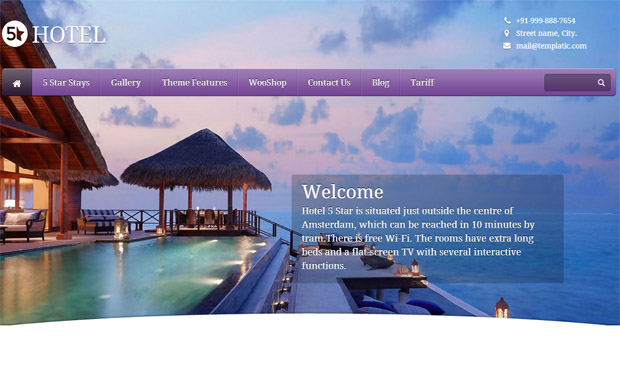 5 Star - Responsive Hotel WordPress Theme
