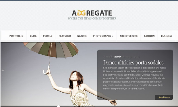 Aggregate - Responsive Magazine WordPress Theme