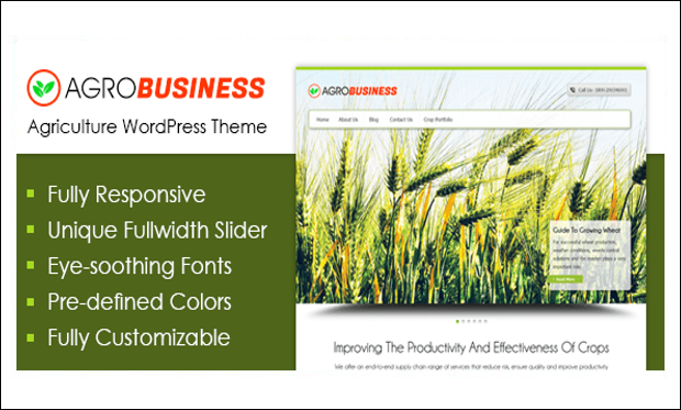 Agrobusiness - WordPress Themes for Digital Farms