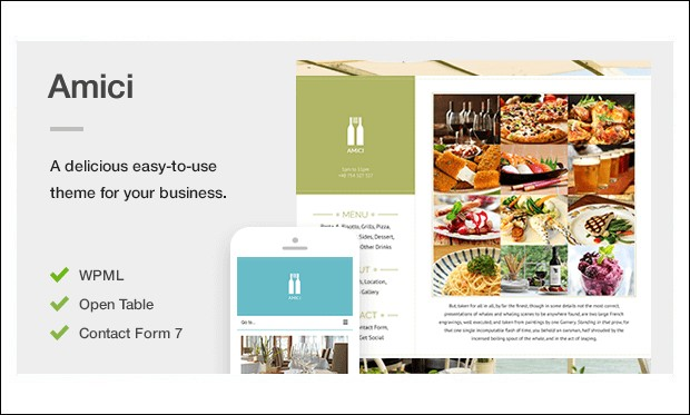 Amici - WordPress Themes for Pizza Shop