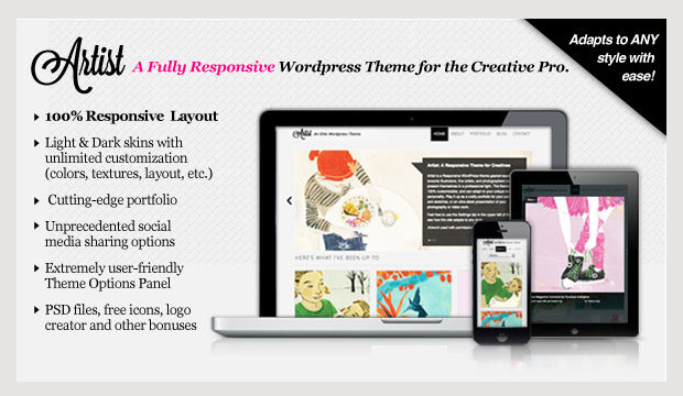 Artist - Responsive Artist WordPress Theme