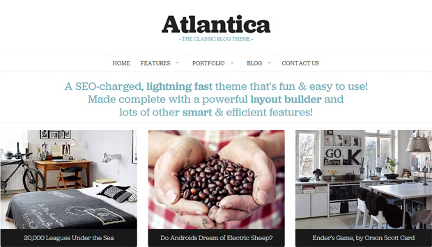 Atlantica - Responsive Writer WordPress Theme