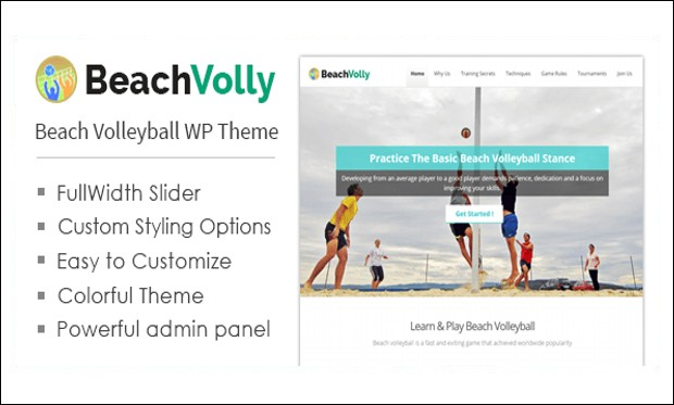 BEACHVOLLY - Beachy WordPress Themes