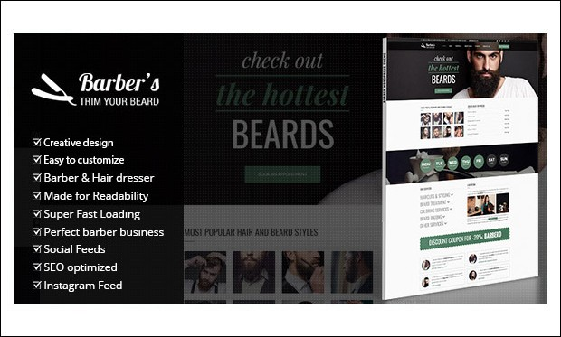 Barber - WordPress Themes for Barber Shops