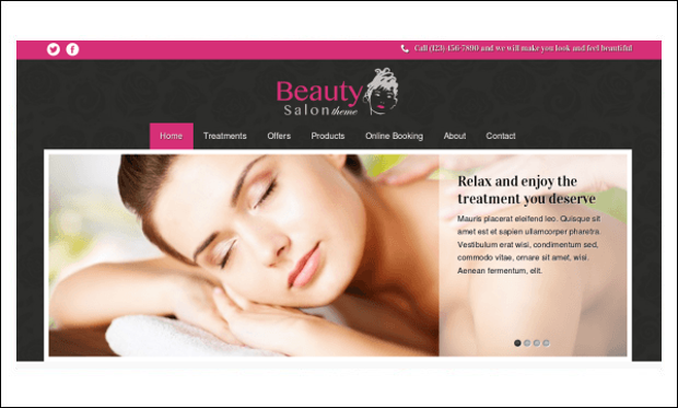 Beauty Salon - WordPress Themes for Makeup Artists