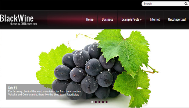 Blackwine - Responsive Wine WordPress Theme