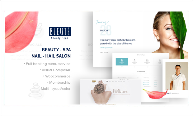 Bleute - Beauticians WordPress Themes