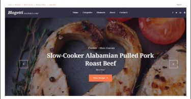 Blogetti - WordPress Theme for Recipe Magazines