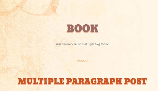 Book - Responsive Writer WordPress Theme