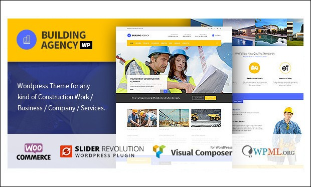 Building Agency - WordPress Themes for Construction Companies