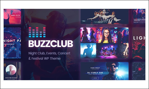 Buzz Club - Responsive DJ WordPress Themes