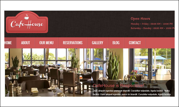CafeHouse - WordPress Themes for CafeHouse Restaurants