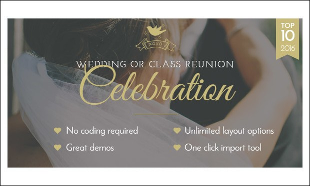 Celebration - Wedding WordPress Themes