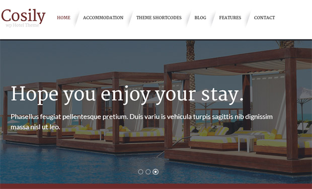 Cosily - Responsive Hotel WordPress Theme