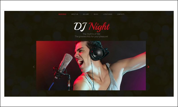 DJ Superstar - Responsive DJ WordPress Themes